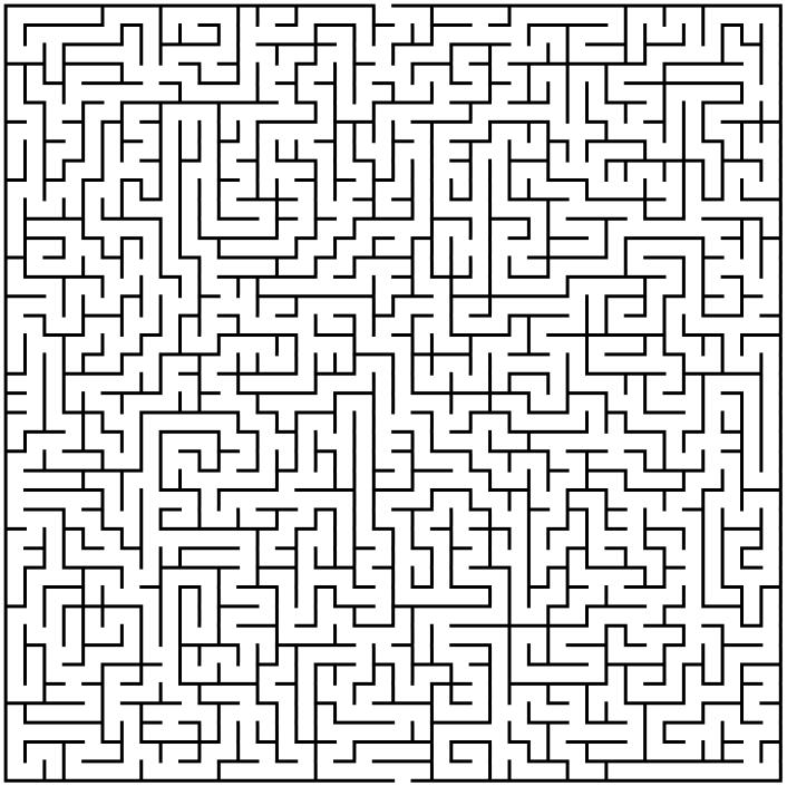 Inventive image within printable mazes medium