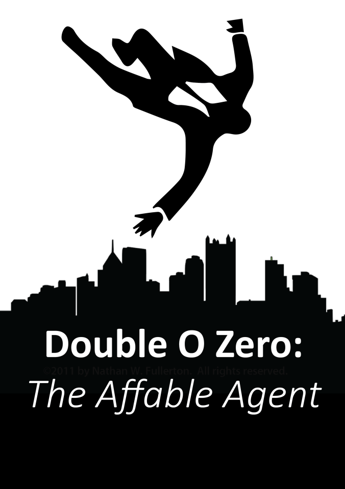The cover of Affable Agent, made by yours truly.