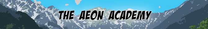 Header Image One. A panorama of the top of the mountain range in between Belpo City and the Aeon Academy.
