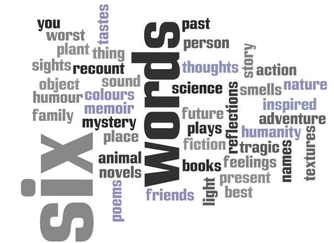 What will your six words say?